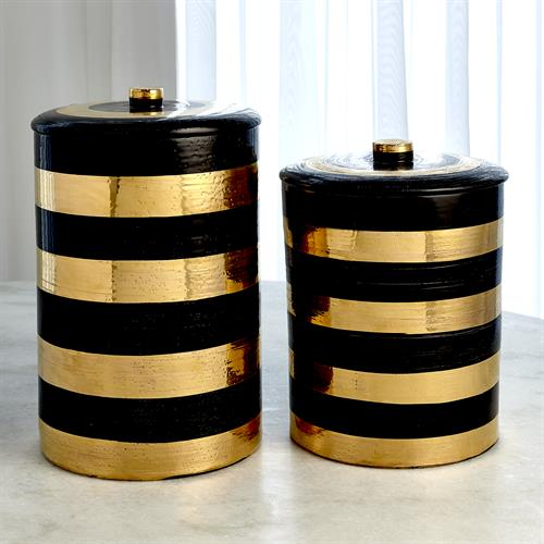 Black/Gold Scratched Jar