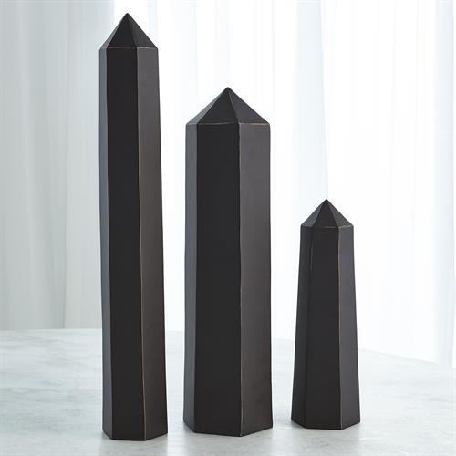Olympian Obelisk-Bronze w/Gold Lining Highlights
