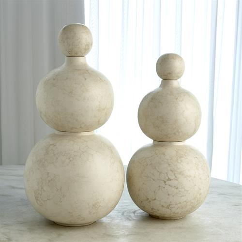 Bubble Stacking Vase-Ivory