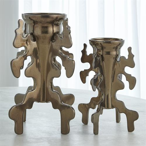 Inkblot Vase-Bronze