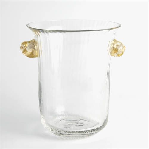 Champagne Bucket w/Gold Knot Handles