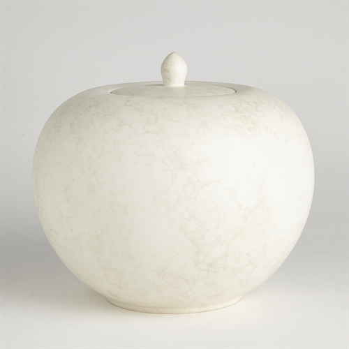 Bubble Lidded Pot-Ivory