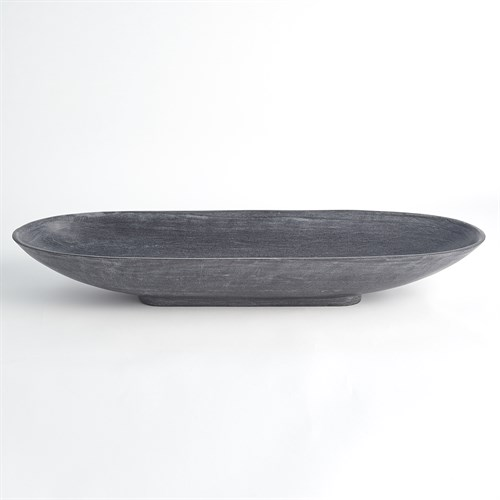 Long Bowl-Black Marble