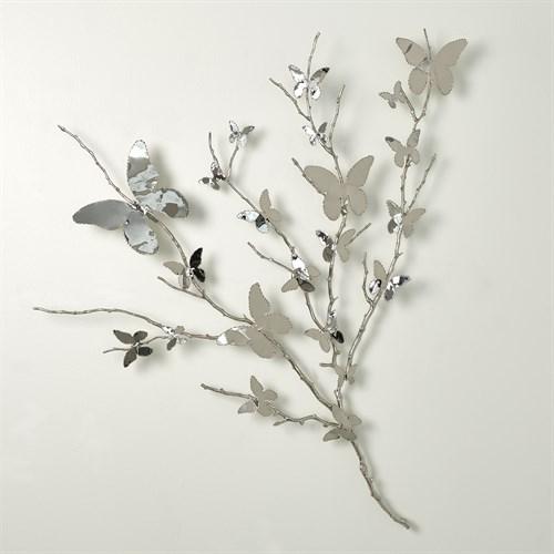 Butterfly Wall Art-Nickel