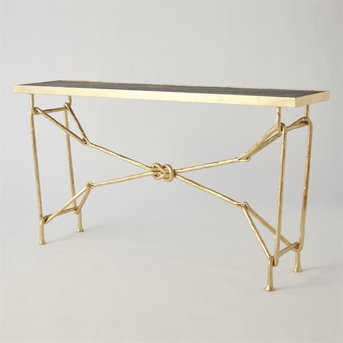 Love Knot Console-Gold Leaf/Black