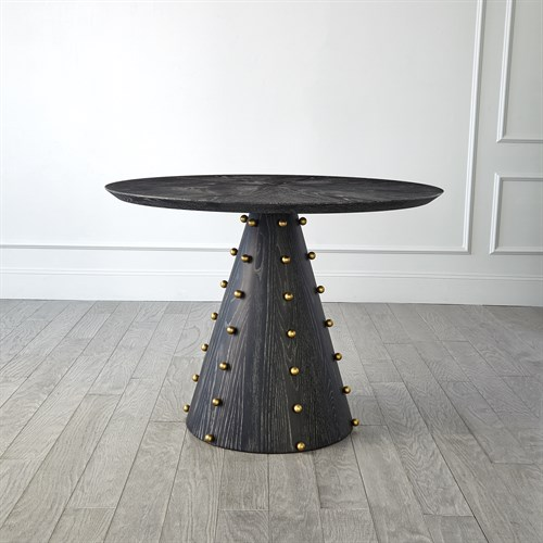 Spheres Center Table-Ebony Cerused Oak