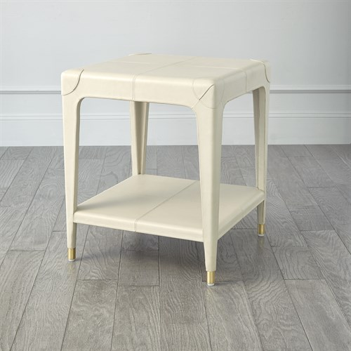 Tiburtina End Table-Mist Leather