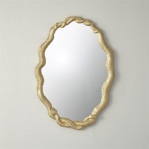 Entwined Snake Mirror-Gold Leaf