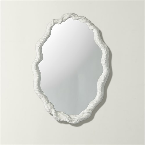Entwined Snake Mirror-White