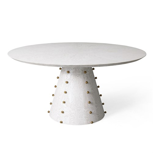 Spheres Dining Table-White Burl