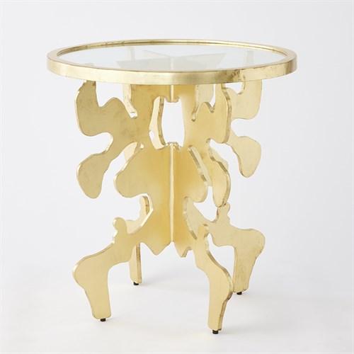 Ink Blot Side Table-Gold Leaf