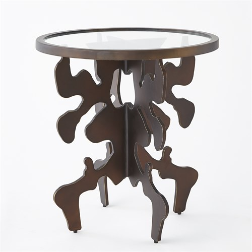 Ink Blot Side Table-Bronze