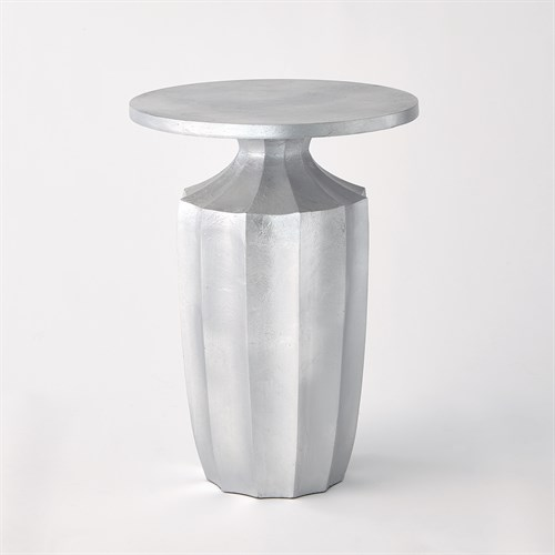Flirt Drink Table-Silver Leaf