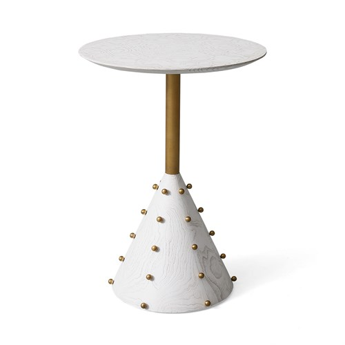 Spheres Drinks Table-White Burl