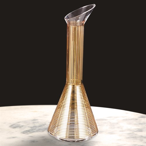 Gold Stripe Wine Decanter-Cone