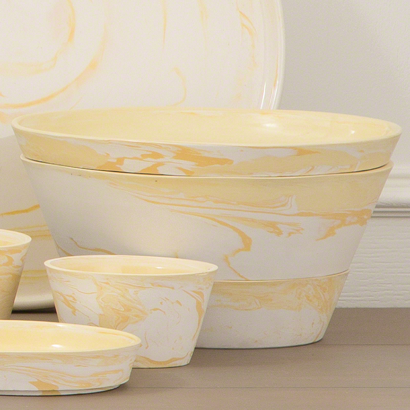 GLOBAL VIEWS | products | S/3 Richmond Serving Set-Yellow-Lg