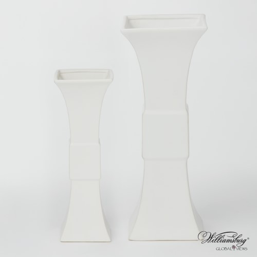 Garniture Vase-Matte White