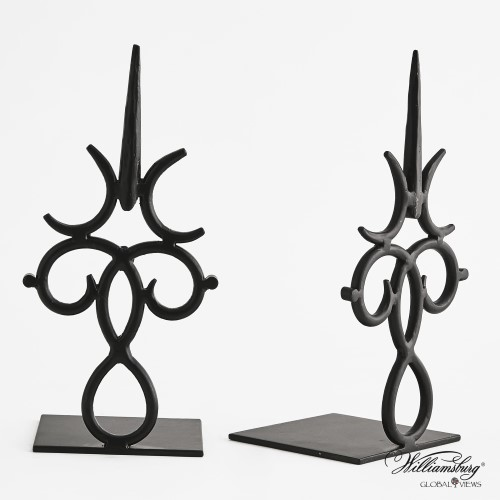 Burnished Time Bookend-Iron