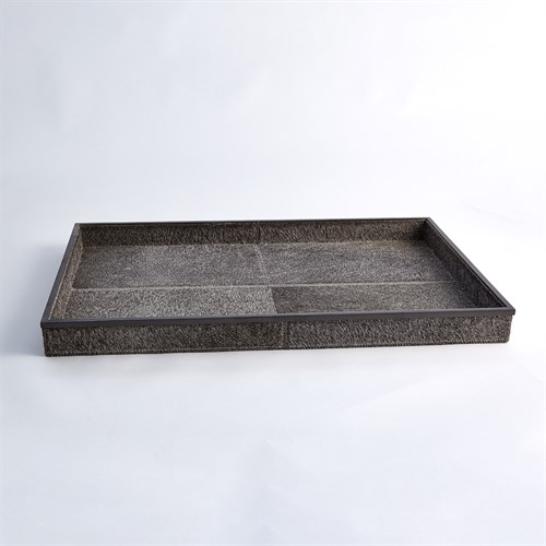 Vaux Hall Tray-Grey Hair-on-Hide