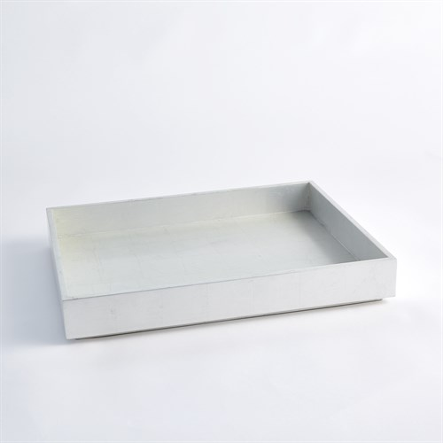 Stack Rectangle Tray-Silver Leaf