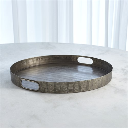 Kokoro Etched Round Tray-Nickel