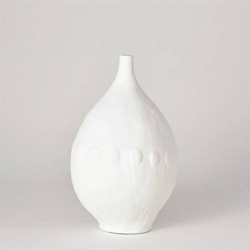 Modernist Vase-White Plaster