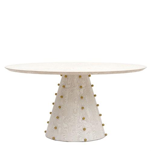 Spheres Dining Table-Ebony Cerused Oak