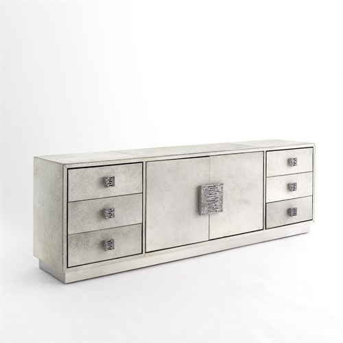 Metro Long Cabinet - Grey Hair-on-Hide