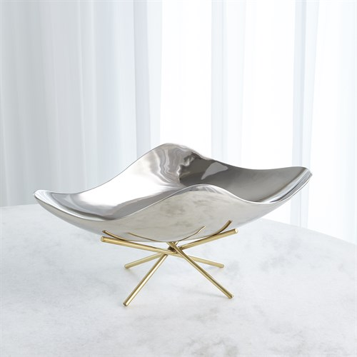 Thistle Decorative Bowl w/Brass Stand