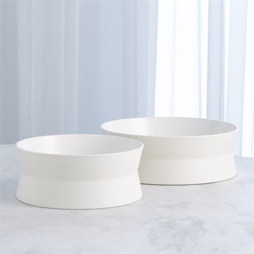 Encircle Scored Bowl-Chalk