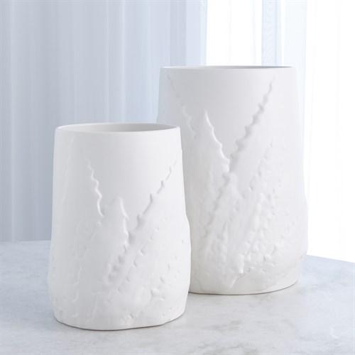 Agave Vase-White
