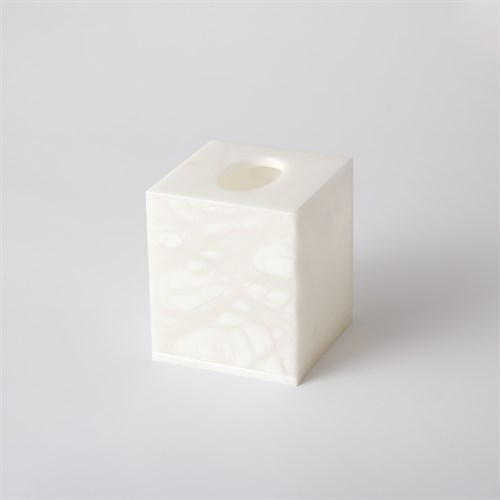 Alabaster Tissue Box