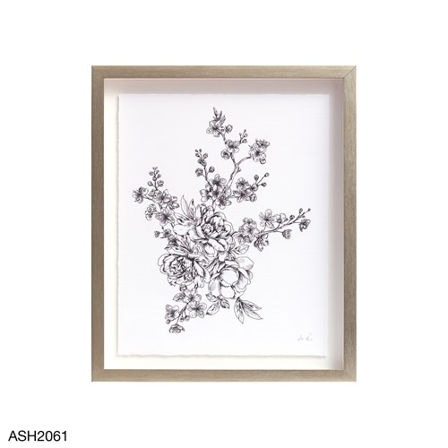 Floral Sketch Collection Framed Art