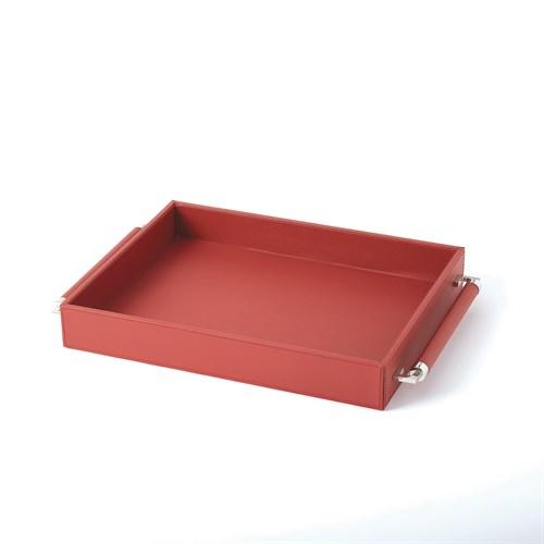 Double Handle Serving Tray-Crimson