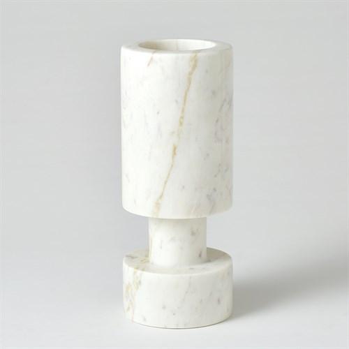 Luc Vase-White Marble