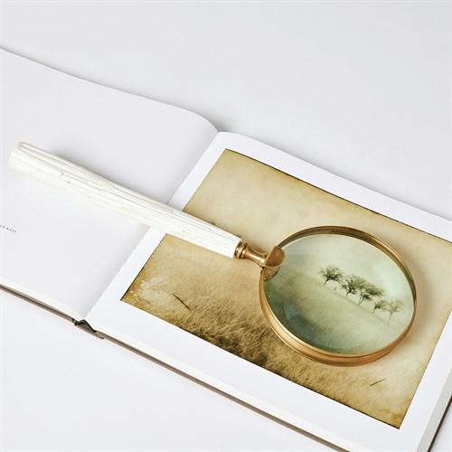 Chiseled Bone Magnifying Glass