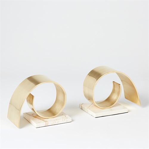 Brass Swirl Bookend