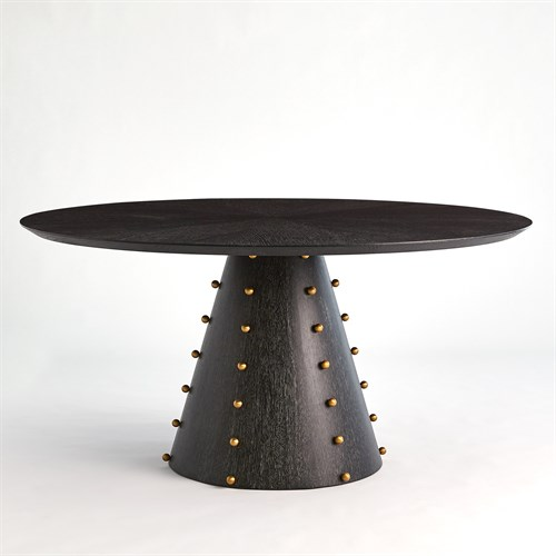 Spheres Dining Table-Ebony Cerused Oak