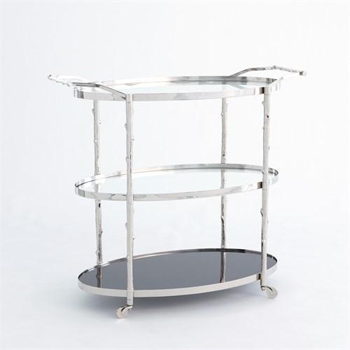 Arbor Bar Cart-Nickel