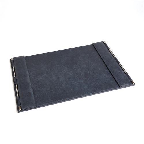 Flap Desk Blotter-Blue Wash