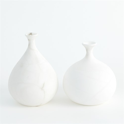 Alabaster Teardrop Vases