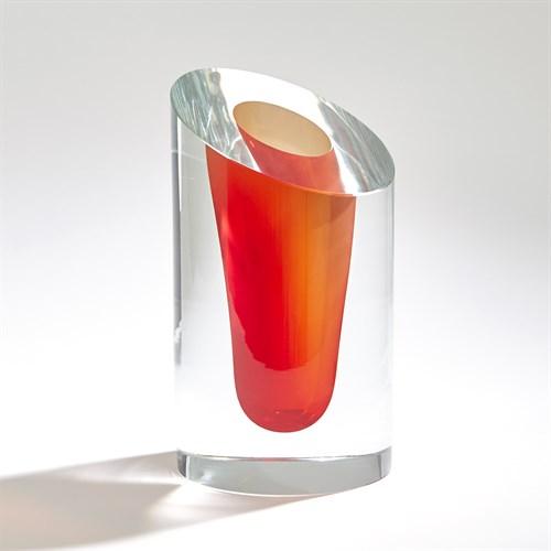 Slant Vase-Cinnabar