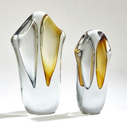 Duet Vases-Amber/Grey