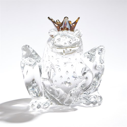 Frog Prince-Clear w/Bubbles