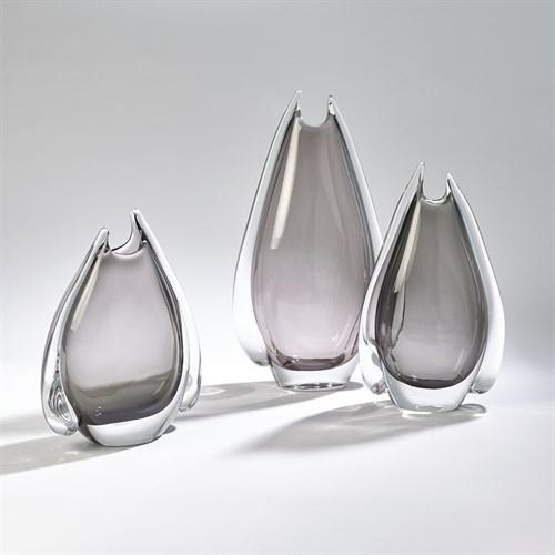 Fin Vase-Grey
