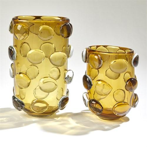 Rondelle Vases-Amber