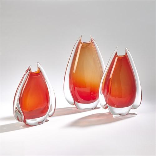 Fin Vase-Cinnabar