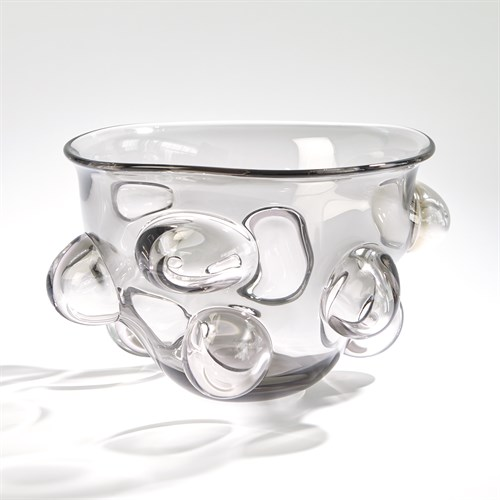 Bubbled Bowl-Smoke Grey
