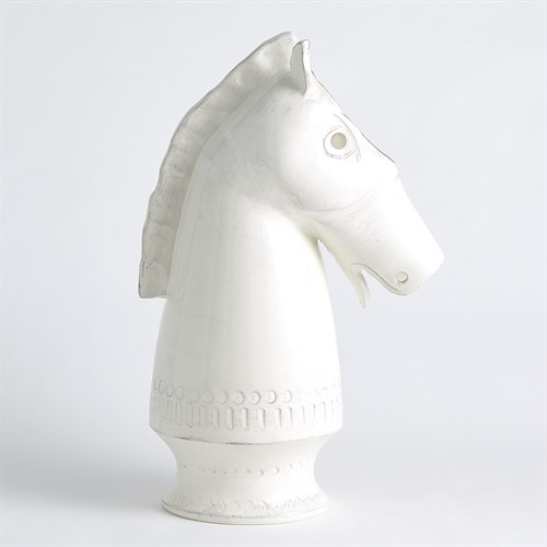 Horse Vase-Antique White
