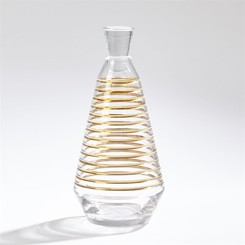 Gold Banded Decanter